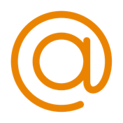 icono arroba color naranja