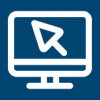 icono de una pantalla de color azul